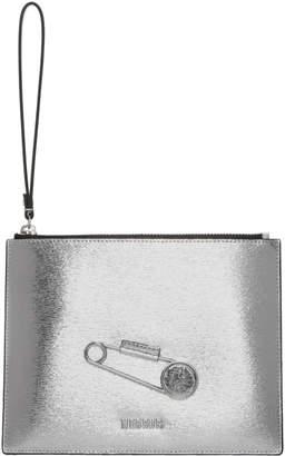 Versus Silver Medium Metallic Safety Pin Pouch