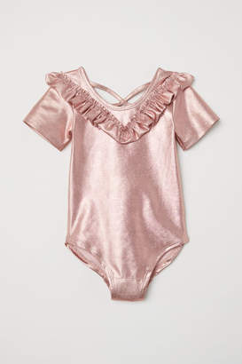 H&M Ruffled Bodysuit - Pink