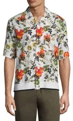 3.1 Phillip Lim Floral-Print Cotton Button-Down Shirt