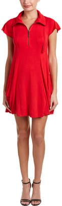 Kensie Funnel Neck Shift Dress