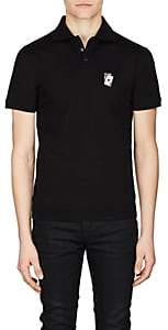 Saint Laurent Men's Playing Card Cotton Polo Shirt - Black