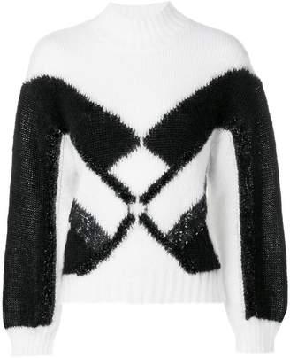 Alberta Ferretti geometric intarsia jumper