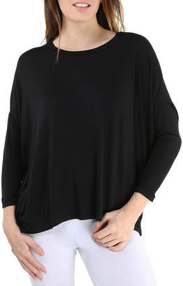 24/7 Comfort Apparel Oversized Dolman T-Shirt-Womens
