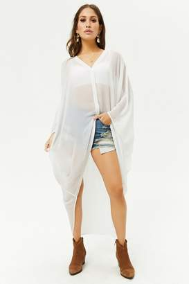Forever 21 Sheer High-Low Shirt