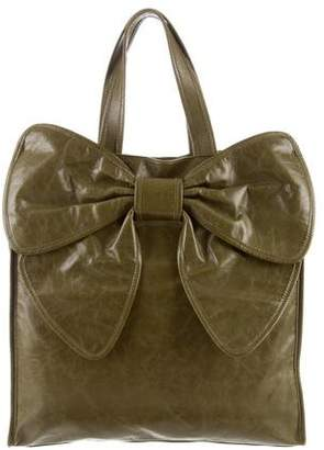RED Valentino Leather Bow-Accented Tote