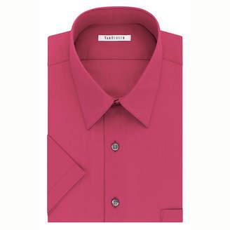 Van Heusen Easy-Care Poplin Short Sleeve Poplin Dress Shirt