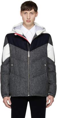 Moncler Gamme Bleu Tricolor Down Chevron Jacket