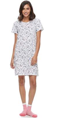 Croft & Barrow Women's Pajamas: Sleepshirt & Socks Set