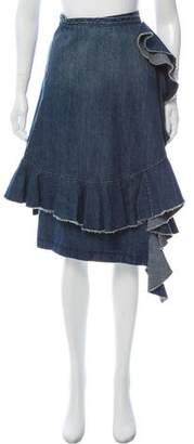 J.W.Anderson Ruffle-Trimmed Knee-Length Skirt