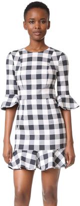 Black Halo Brooklyn Gingham Dress $390 thestylecure.com