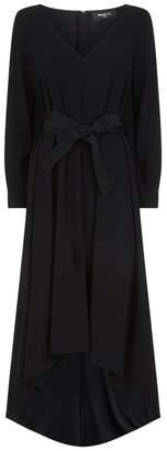Paule Ka Waist Tie High Low Gown