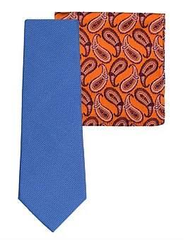 James Harper Neat Tie & Paisley Pocket Square