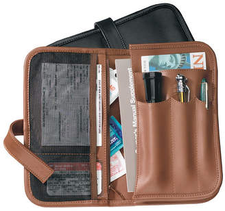 Royce Leather Royce Executive Glove Compartment Organizer in Genuine Leather with Auto Essentials Included