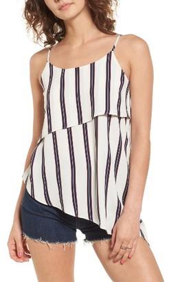 Women's Soprano Stripe Asymmetrical Tank $29 thestylecure.com