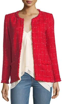 IRO Quespo Open-Front Tweed Jacket