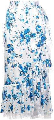 ADAM by Adam Lippes floral print skirt