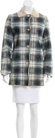 CelineCéline Shearling Plaid Print Jacket