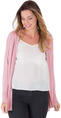 Wool Overs WoolOvers Womens Cashmere and Cotton Edge to Edge Knitted Cardigan , M