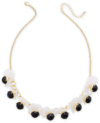"""INC International Concepts I.n.c. Gold-Tone Disc & Stone Necklace, 21"""" + 3"""" extender"""