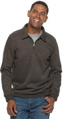 Croft & Barrow Men's Classic-Fit Quarter-Zip Fleece Polo