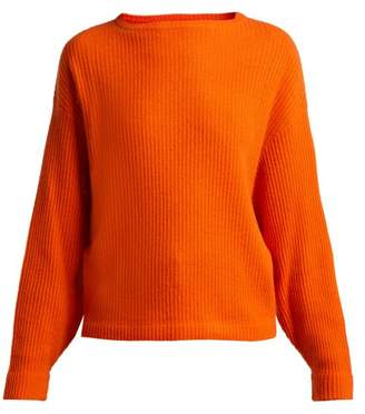 Allude Ribbed Cashmere Sweater - Womens - Orange