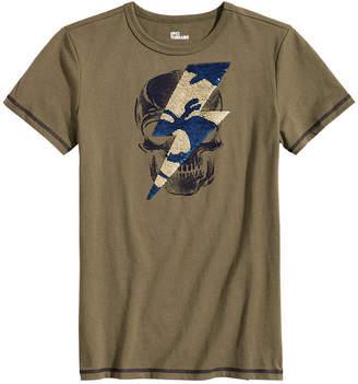 Epic Threads Big Boys Skull Sequin Graphic T-Shirt