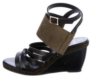 Pierre Hardy Leather Multistrap Wedge Sandals