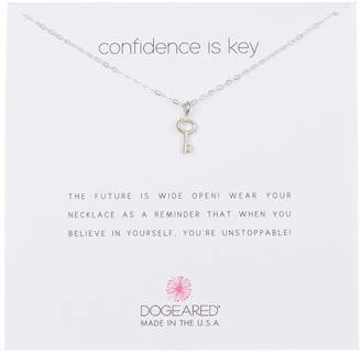 Dogeared Sterling Silver 'Confidence Is Key' Vintage Key Pendant Necklace