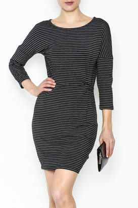 Cupcakes And Cashmere Waist Flattering Stripe Dress
