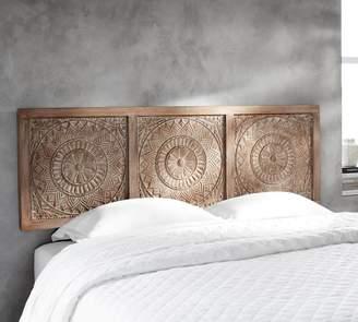 Pottery Barn Alia Carved Wood Headboard