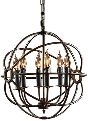 Amonson Lighting Foucault's Iron Orb Chandelier, Small