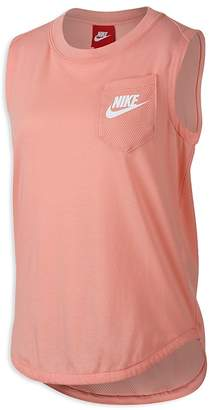 Nike Girls' Mixed-Media Muscle Tank - Big Kid