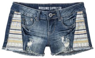 Mossimo Juniors Embroidered Denim Shorts