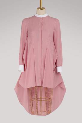 Alexander McQueen Drape shirt with bustle