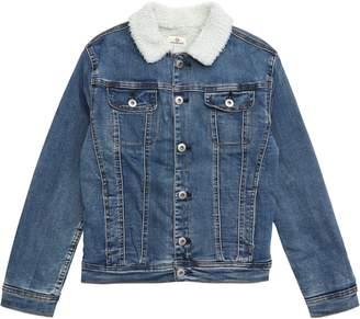 AG Jeans adriano goldschmied kids Fleece Lined Denim Jacket