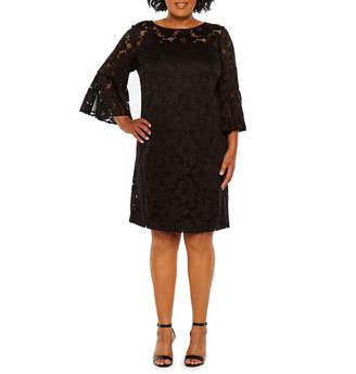 Studio 1 Bell Sleeve Lace Dress - Plus