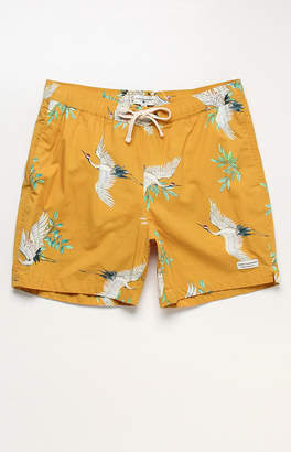"Modern Amusement Swans 17"" Swim Trunks"