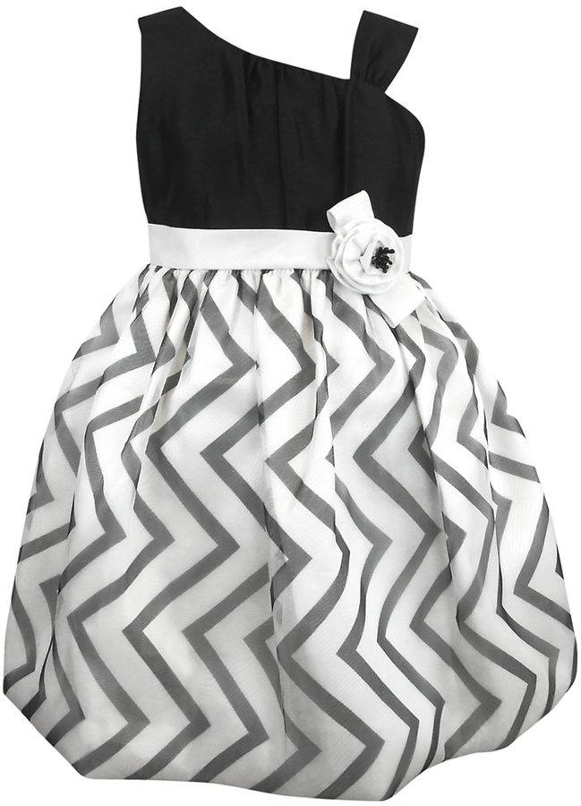 Jayne Copeland Little Girls' One-Shoulder Dress
