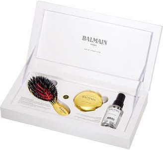 Balmain Mini Golden Spa brush and mirror