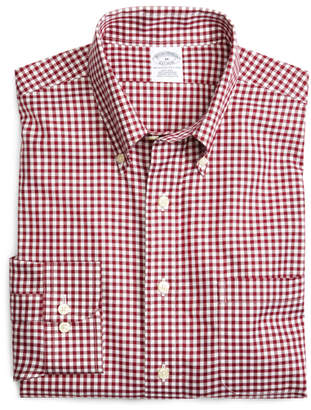 Brooks Brothers Supima Cotton Non-Iron Slim Fit Gingham Sport Shirt