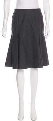 Rena Lange Knee-Length Wool Skirt