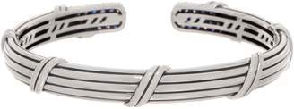 Peter Thomas Roth Stering Silver Pave Sapphire Cuff, 22.4g