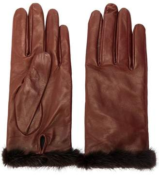 Blumarine fur trimmed gloves