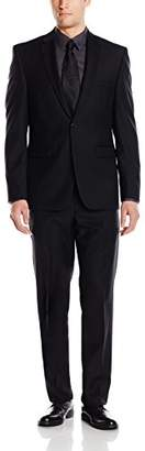 Vince Camuto Men's Two Button Slim Fit Solid Suit