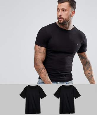 Replay 2 Pack Logo T-Shirts Black