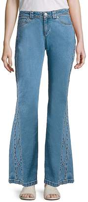 See by Chloe Women's Cropped Flared Jeans - Stoned, Size 26 (2-4)