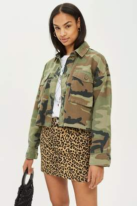 Topshop Cropped Camo Shacket