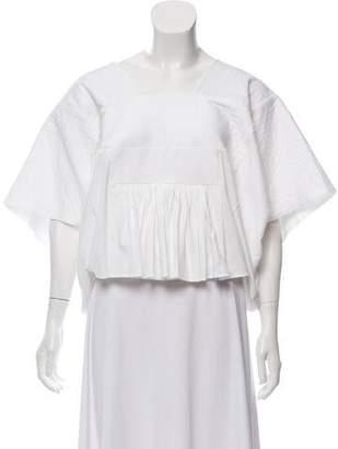 Chloé Short Sleeve Pleated Top w/ Tags