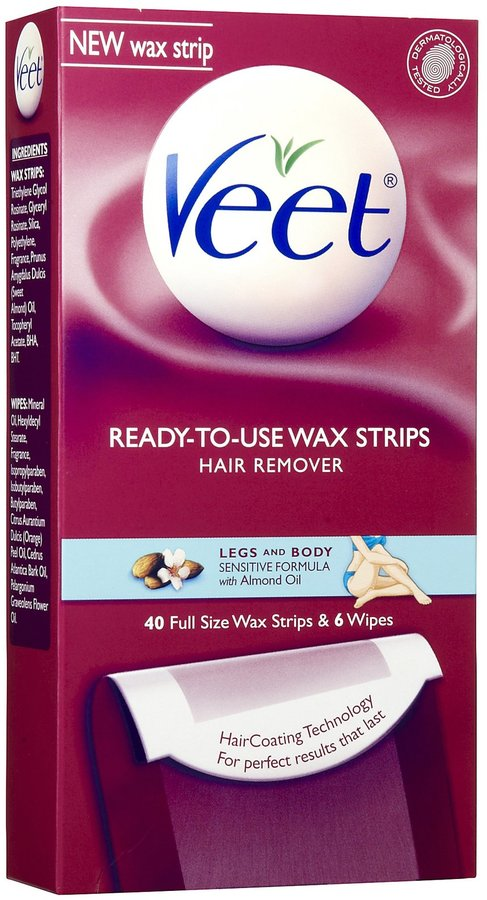 Veet Ready-To-Use Wax Strips for Leg & Body