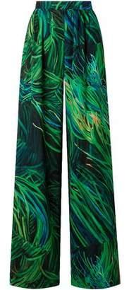 Elie Saab Printed Silk-Georgette Wide-Leg Pants